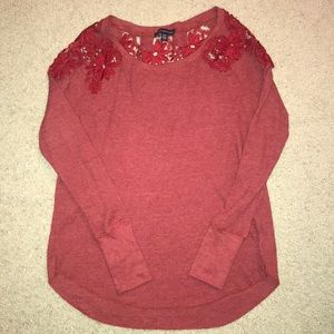 XS lace detailed thermal top from AEO